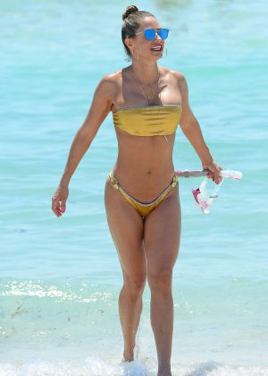 Jennifer Nicole Lee in Gold Bikini 2016 -27