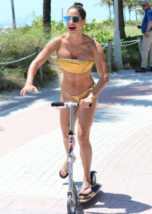 Jennifer Nicole Lee in Gold Bikini 2016 -30