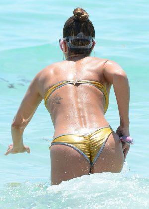 Jennifer Nicole Lee in Gold Bikini 2016 -31
