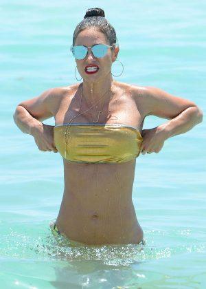 Jennifer Nicole Lee in Gold Bikini 2016 -34