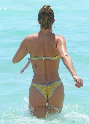 Jennifer Nicole Lee in Gold Bikini 2016 -35