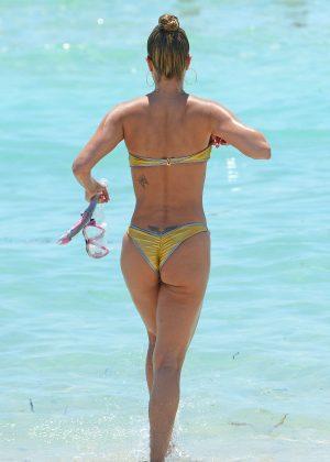 Jennifer Nicole Lee in Gold Bikini 2016 -36