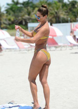 Jennifer Nicole Lee in Gold Bikini 2016 -39