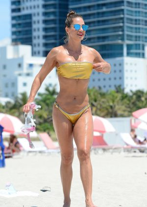Jennifer Nicole Lee in Gold Bikini 2016 -40