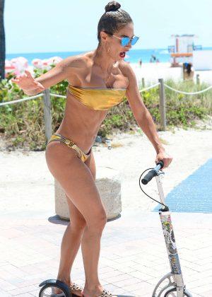 Jennifer Nicole Lee in Gold Bikini 2016 -42