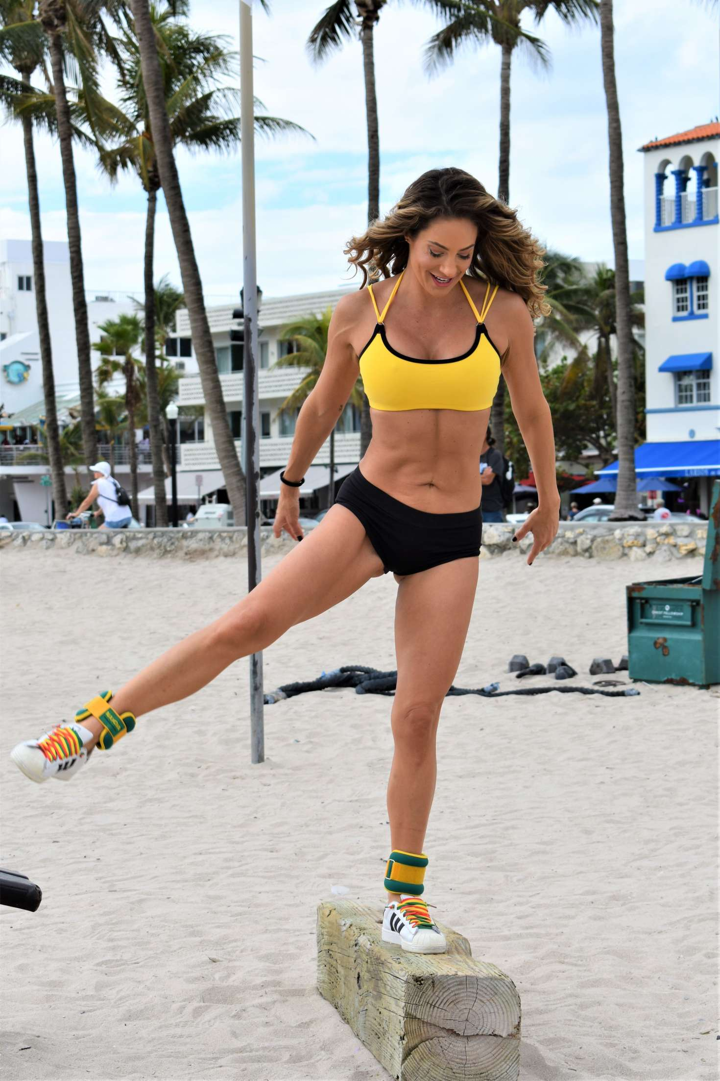 Jennifer Nicole Lee in Sports Bra and Shorts - Workout in Miami