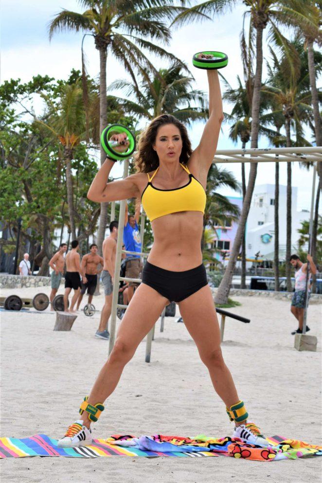 Jennifer Nicole Lee in Sports Bra and Shorts -10