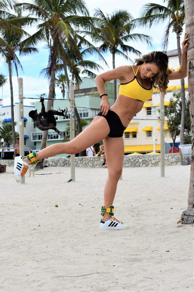 Jennifer Nicole Lee in Sports Bra and Shorts -15