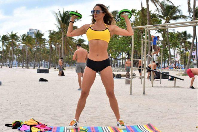 Jennifer Nicole Lee in Sports Bra and Shorts -18