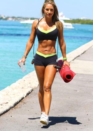 Jennifer Nicole Lee - Workout in Miami