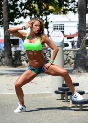 Jennifer Nicole Lee in Bikini Workout -08