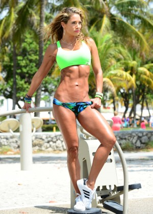 Jennifer Nicole Lee in Bikini Workout -21