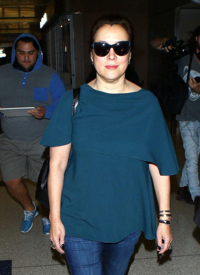 Jennifer Tilly arrives at LAX Airport in LA