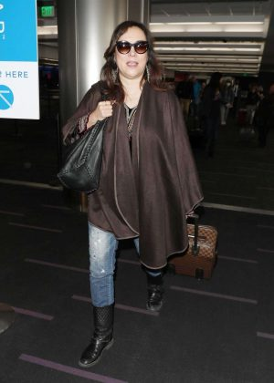 Jennifer Tilly at LAX Airport in Los Angeles
