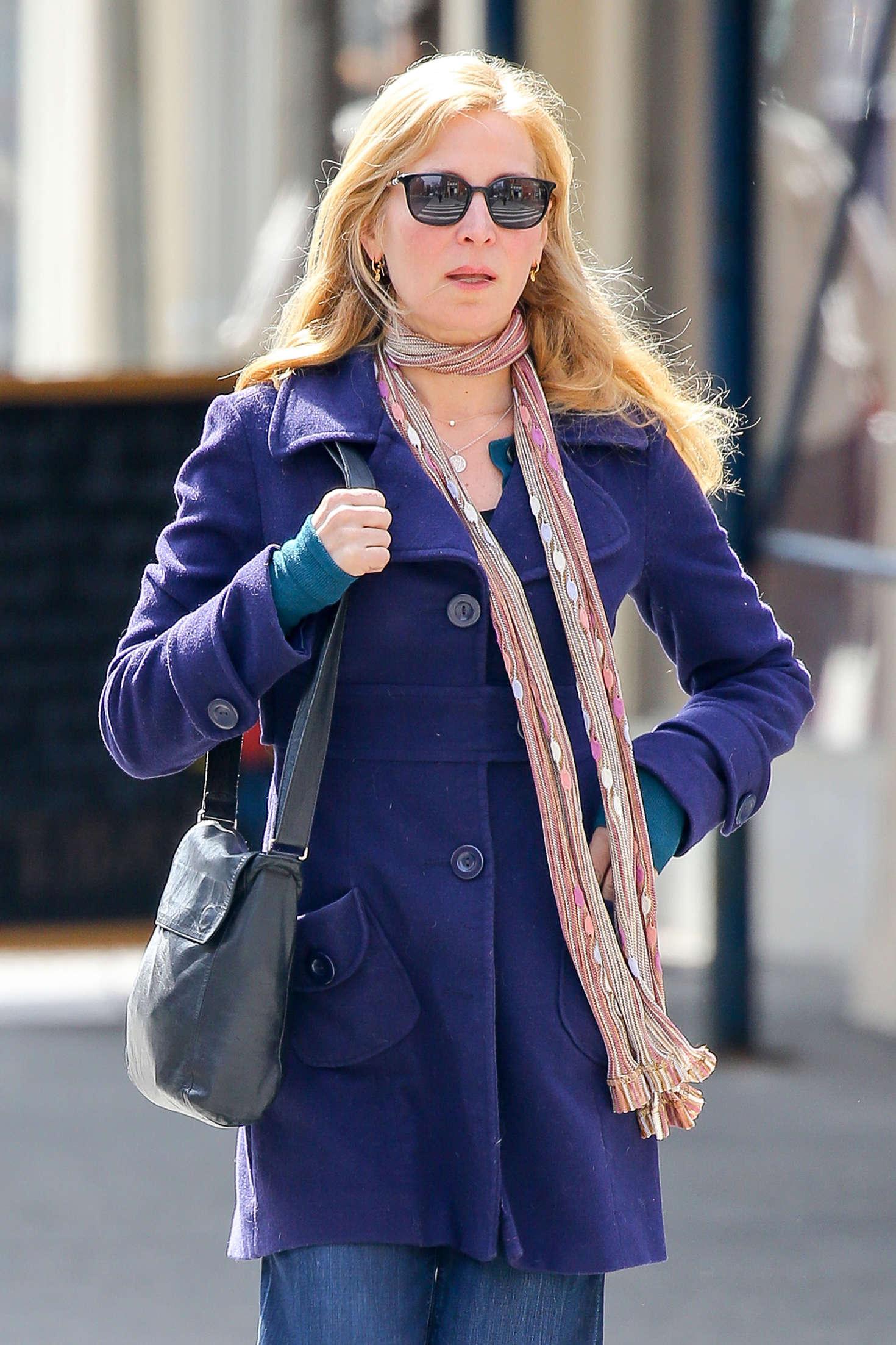 Jennifer Westfeldt in Jeans out for lunch in NYC