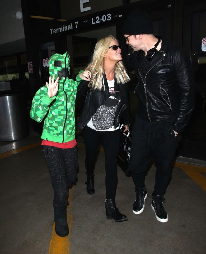 Jenny McCarthy at LAX Airport -02