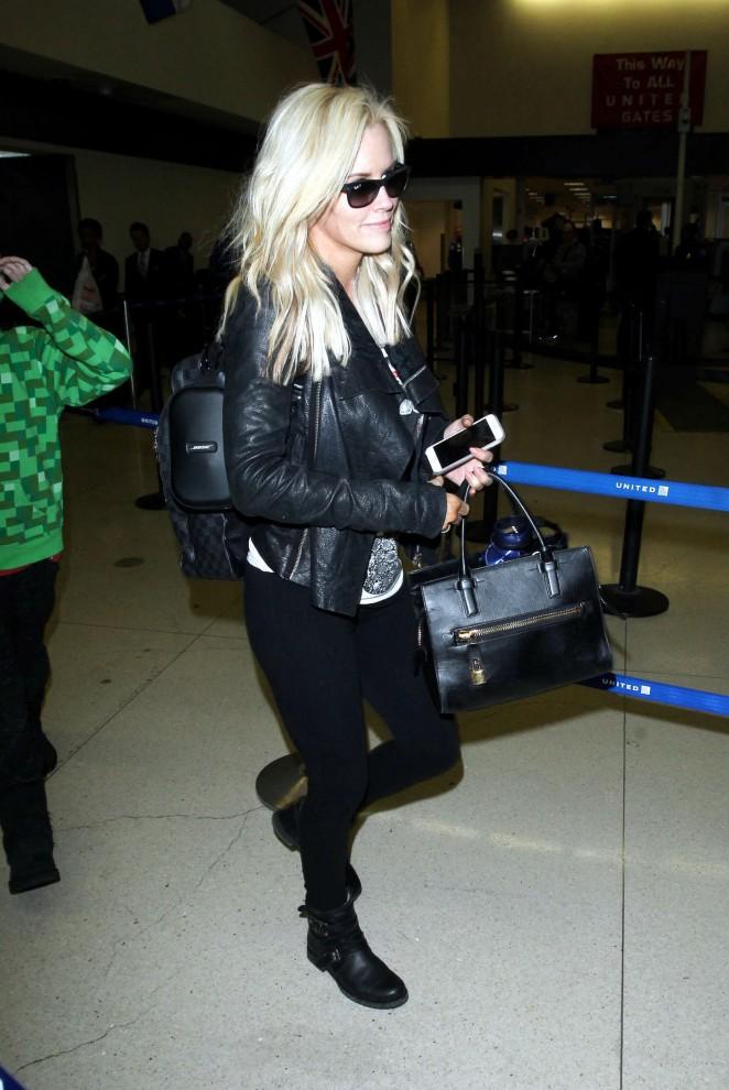 Jenny McCarthy at LAX Airport -05