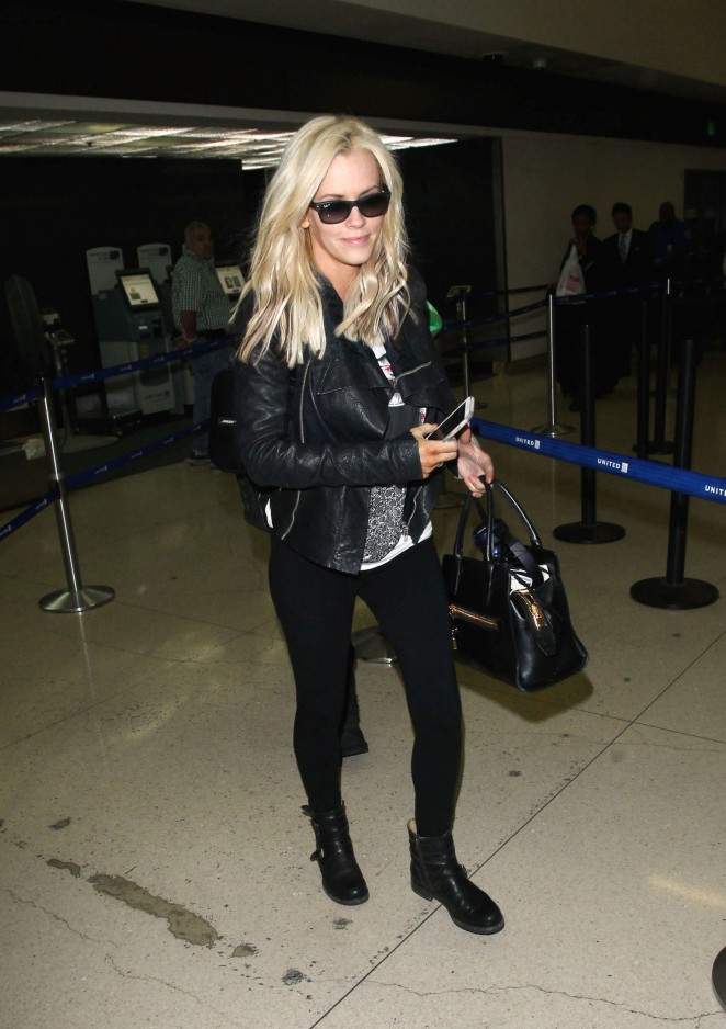 Jenny McCarthy at LAX Airport in LA