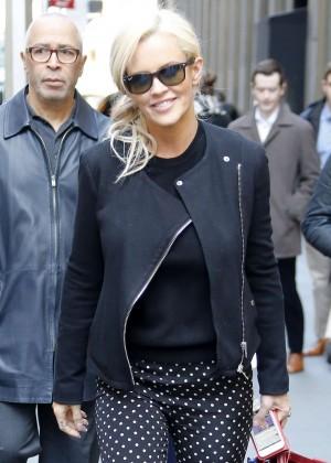 Jenny McCarthy - Leaving SiriusXM Studios in New York City