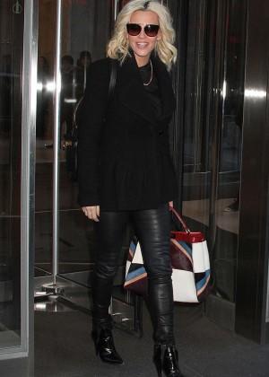 Jenny McCarthy Leaving SiriusXM Studios in New York