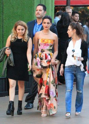 Jenny Slate and Mae Whitman at the Grove in Hollywood