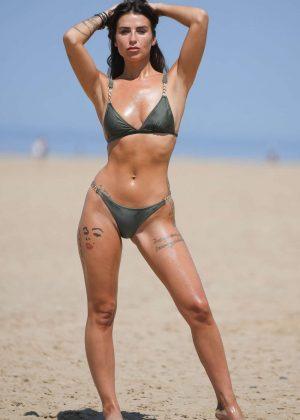 Jenny Thompson in Bikini on a beach in England