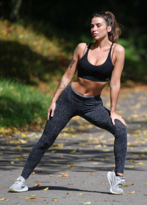 Jenny Thompson in Leggings - Workout in Manchester