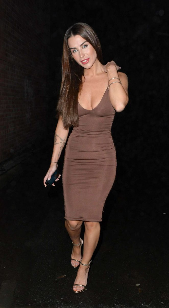 Jenny Thompson in Tight Dress out in Manchester