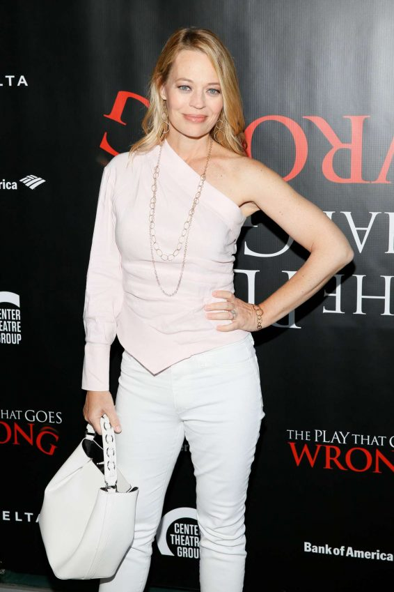 Jeri Ryan - 'The Play That Goes Wrong' Opening in Los Angeles