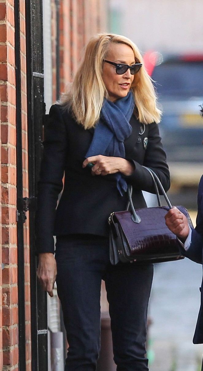 Jerry Hall - Arrives at a photography studio in London
