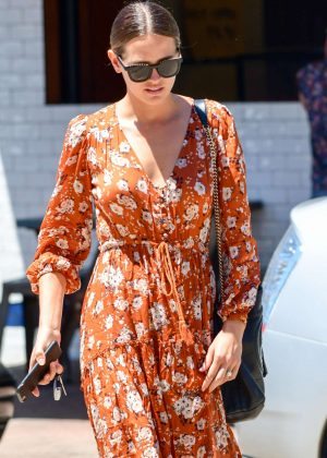 Jesinta Campbell in Long Dress out for coffee in Bronte