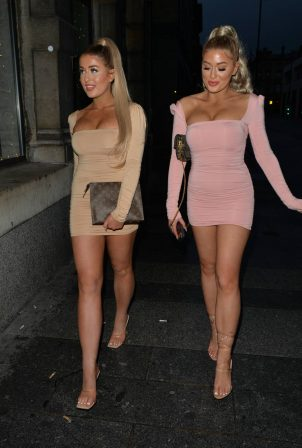 Jess and Eve Gale - Night out for dinner in Liverpool