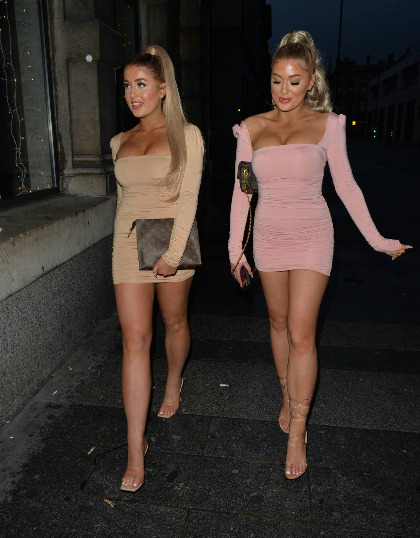 Eve Gale 2020 : Jess and Eve Gale – Night out for dinner in Liverpool -07