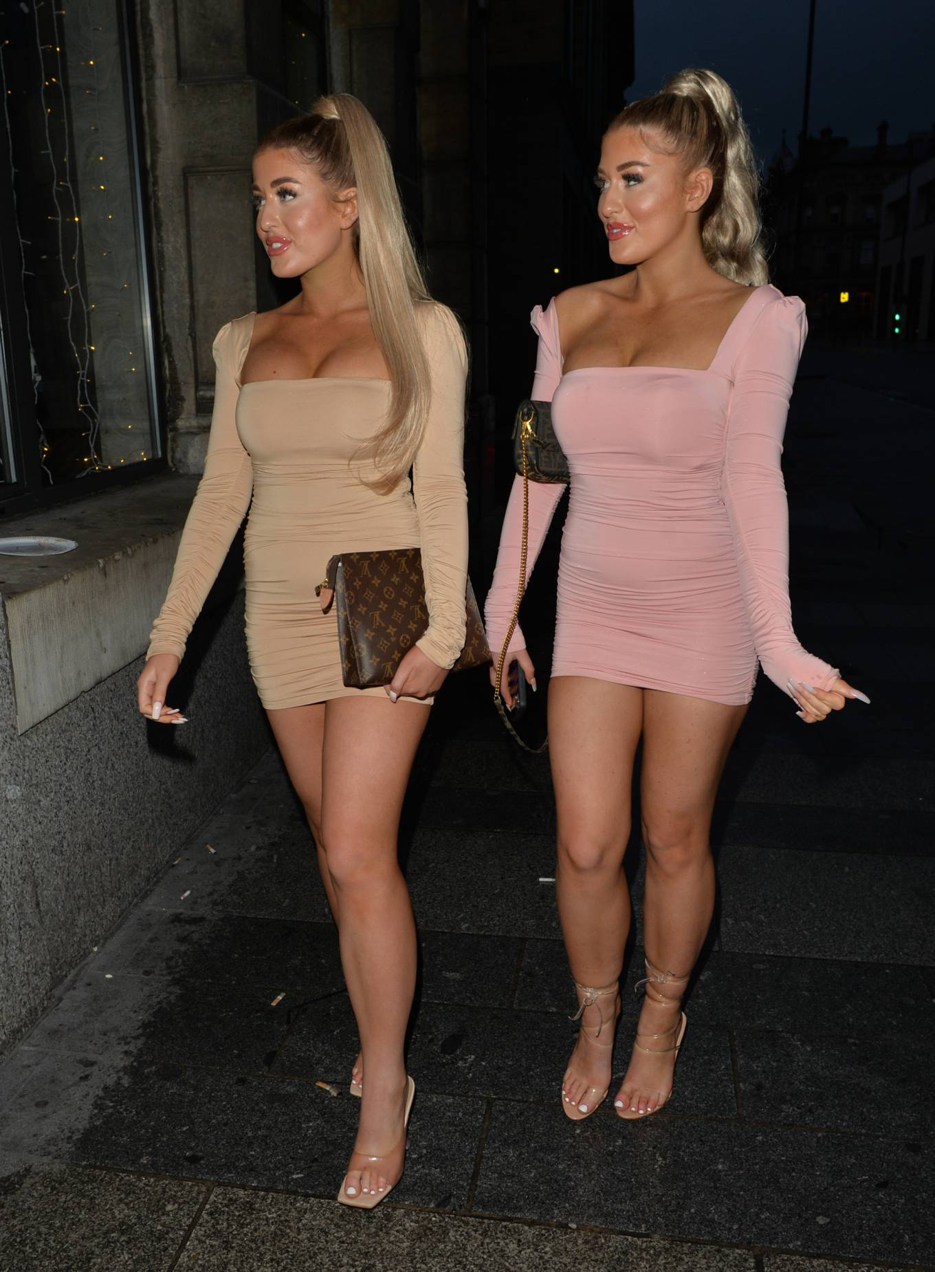 Eve Gale 2020 : Jess and Eve Gale – Night out for dinner in Liverpool -09