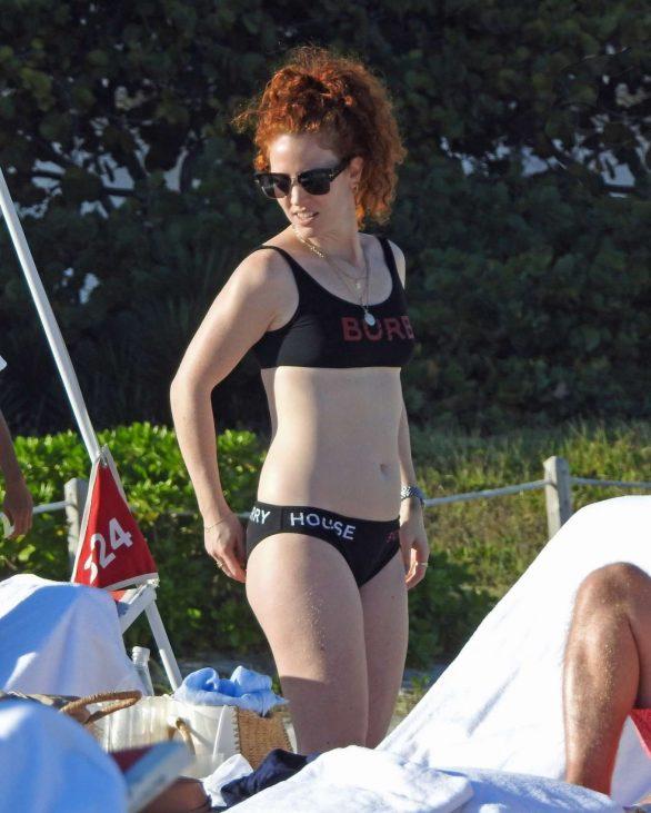 Jess Glynne - In a bikini at the beach in Miami
