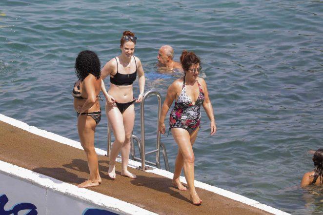 Jess Glynne in Black Bikini 2017 -30