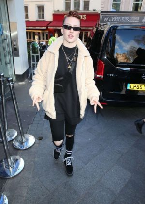 Jess Glynne - Leaves Global Radio Studios in London