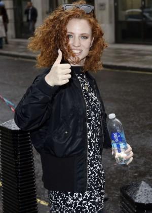 Jess Glynne - Leaving the BBC Radio 1 Studios in London