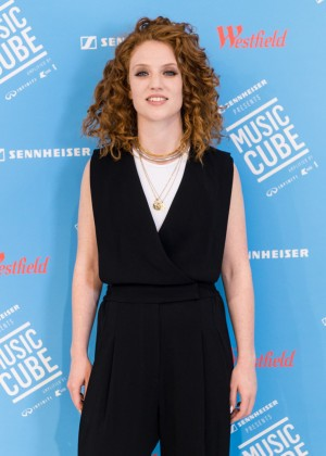 Jess Glynne - Performs on stage during a launch for MUSIC CUBE in London
