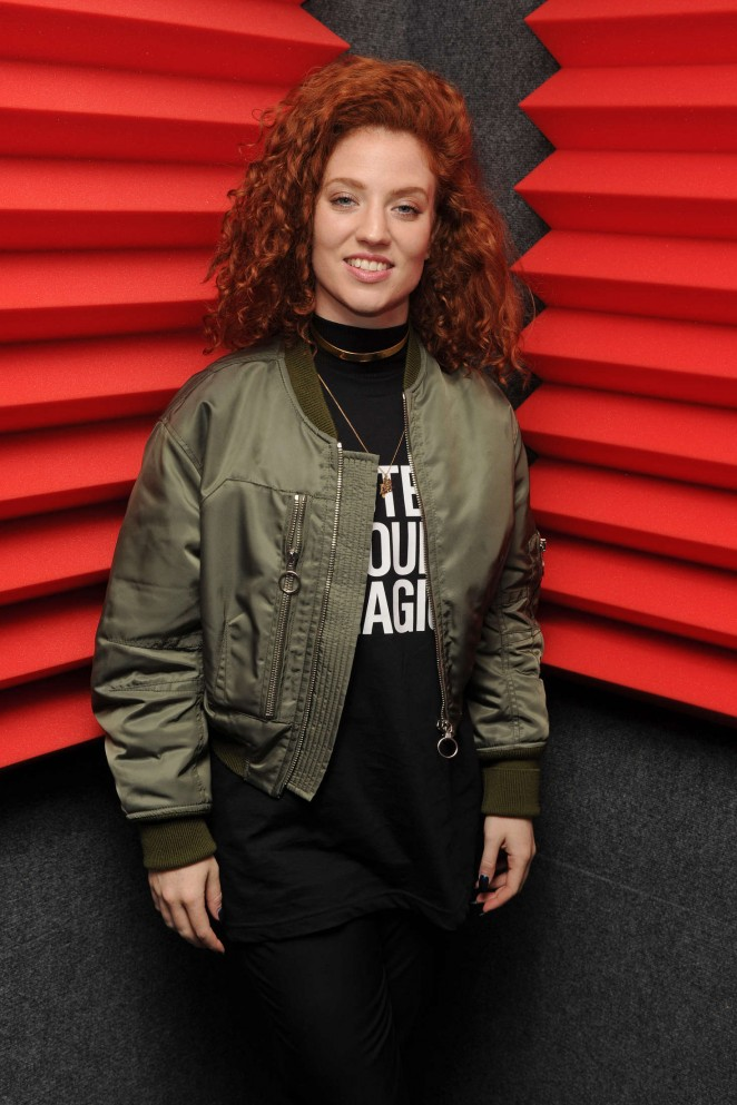 Jess Glynne Portrait at Radio Station Y-100 in Florida