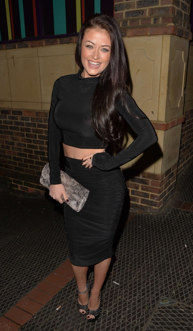 Jess Impiazzi in Tight Dress at Club 13 in Guildford