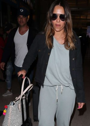 Jessica Alba and Cash Warren at LAX Airport in Los Angeles