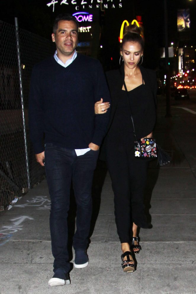 Jessica Alba and Cash Warren night out in Hollywood