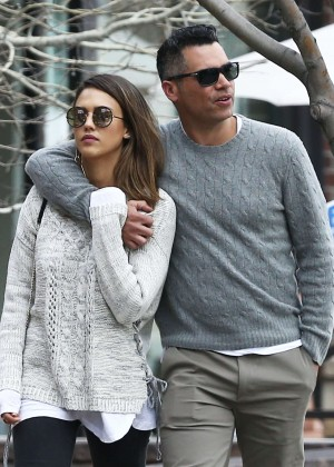 Jessica Alba and Cash Warren out and about in Aspen