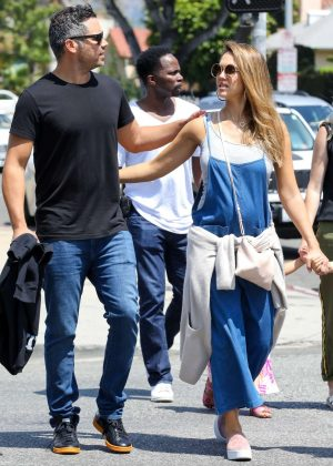 Jessica Alba and Cash Warren out in Los Angeles