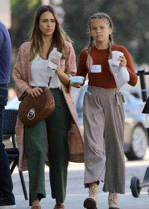 Jessica Alba and Honor Warren - Out in Brentwood