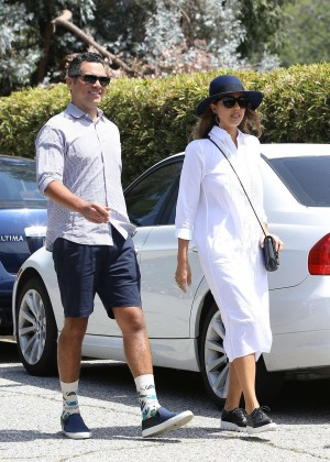 Jessica Alba and husband Cash Warren Out in Beverly Hills