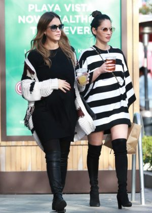 Jessica Alba and Olivia Munn - Out for lunch in Beverly Hills