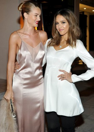 Jessica Alba and Rosie Huntington Whiteley - Galvan for Opening Ceremony Dinner in LA