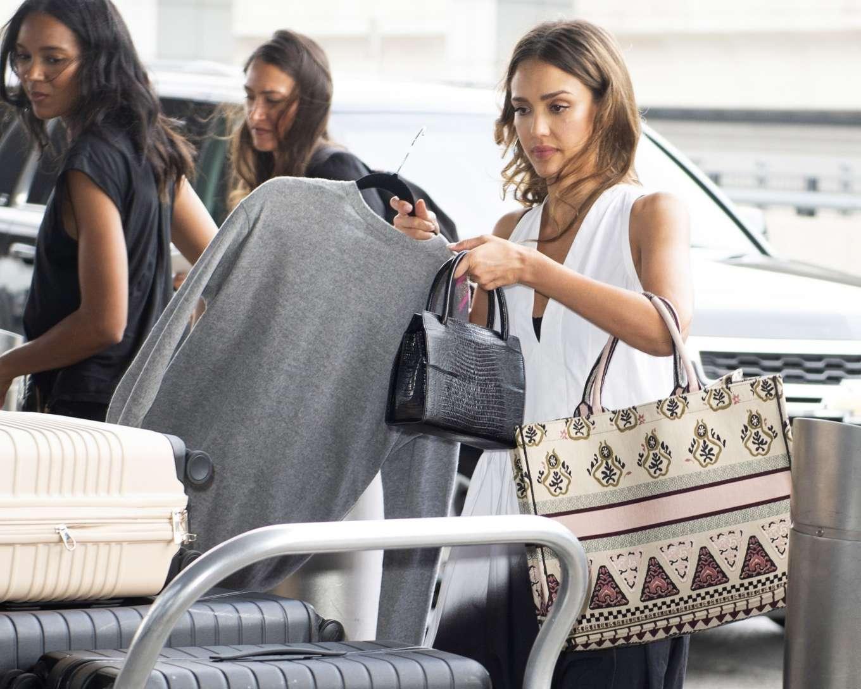 Jessica Alba 2019 : Jessica Alba – Arrives at JFK Airport-04